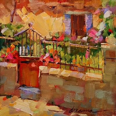 """""""Ready and Waiting in Italy"""" original fine art by Dreama Tolle Perry"""