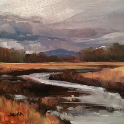 """New Hampshire Marsh"" original fine art by Elaine Juska Joseph"