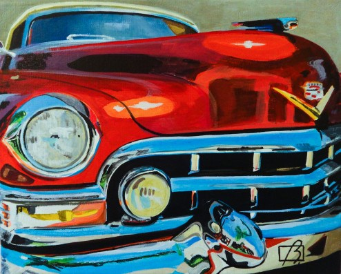 """Vintage Cadillac"" original fine art by Andre Beaulieu"