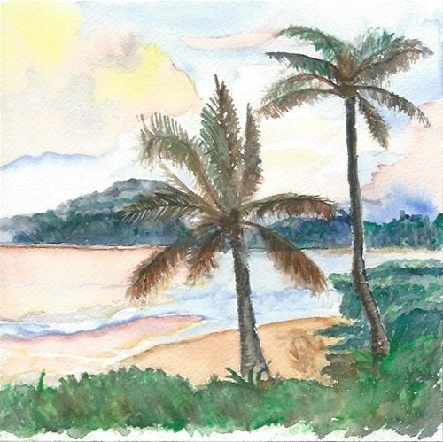 """""""Hawaiian Beach"""" original fine art by Laura Denning"""