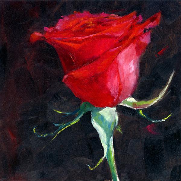 """""""La Vie en Rose"""" original fine art by Brenda Ferguson"""