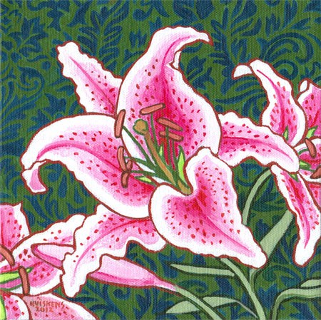 """Stargazer Lily"" original fine art by Randal Huiskens"