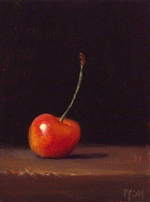 """Rainier Cherry No. 2"" original fine art by Abbey Ryan"