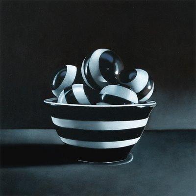 """Bowl-n-Ballz No.2  8x8"" original fine art by M Collier"