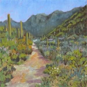 """Trail Among the Saguaro"" original fine art by Robert Frankis"