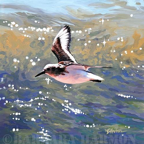 """Flying Peep"" original fine art by Barbara Harmon"