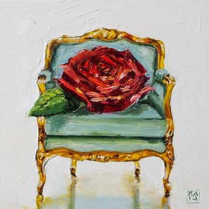 """miss america"" original fine art by Kimberly Applegate"