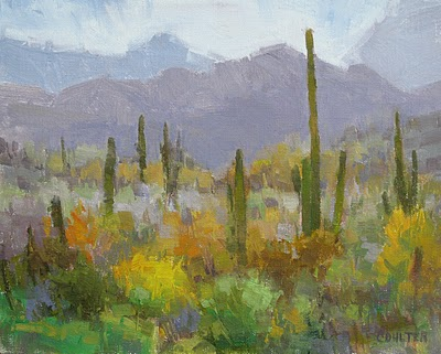 """DESERT RAIN"" original fine art by James Coulter"