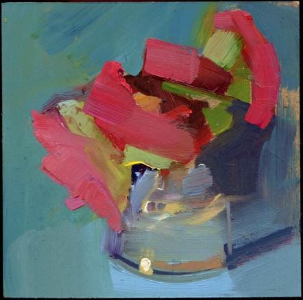 """""""2272 Calling In"""" original fine art by Lisa Daria"""