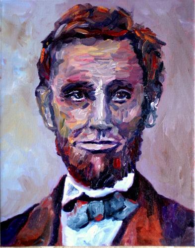 """Abe"" original fine art by Kristen Dukat"