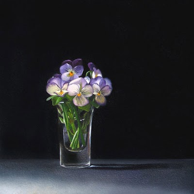"""""""Viola  6x6"""" original fine art by M Collier"""