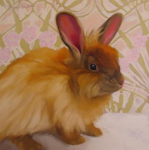 """Esperanza, painting of a rabbit"" original fine art by Diane Hoeptner"