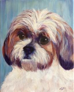 """Angel, last portrait of the year!"" original fine art by Lyn Gill"