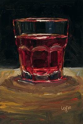 """Cranberry Juice Cocktail"" original fine art by Raymond Logan"