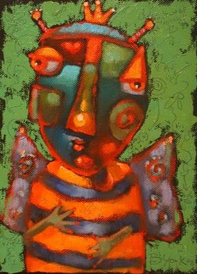 """Waiting For Queen B"" original fine art by Brenda York"