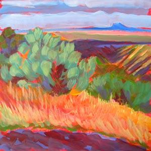 """Canyon Dreams 25"" original fine art by Pam Van Londen"