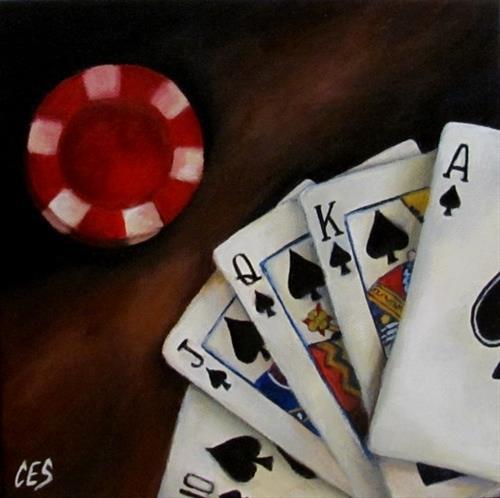 """""""Royal Flush"""" original fine art by ~ces~ Christine E. S. Code"""