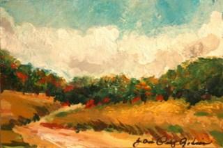 """""""Teeny Weeny Landscape"""" original fine art by JoAnne Perez Robinson"""