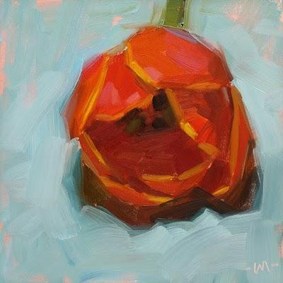 """Lay Down Your Tulips"" original fine art by Carol Marine"