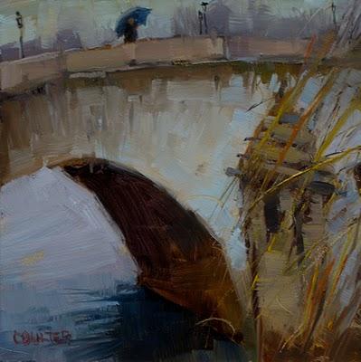 """""""THE BRIDGE"""" original fine art by James Coulter"""