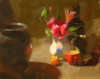 """""""Out of the Shadow"""" original fine art by Qiang Huang"""
