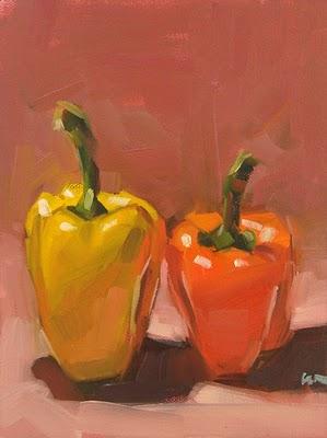 """Sisters --- SOLD"" original fine art by Carol Marine"