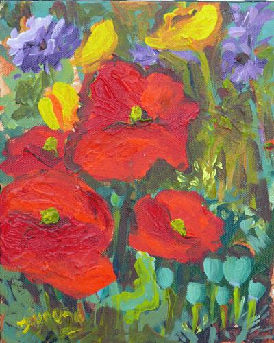 """Poppy Dream"" original fine art by Darlene Young"