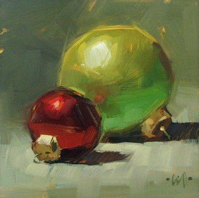"""Merry Christmas!"" original fine art by Carol Marine"