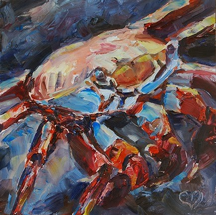 """Crazy Crab"" original fine art by Carol DeMumbrum"
