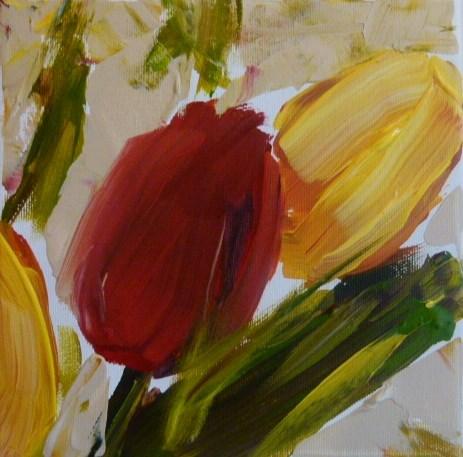 """Tulips"" original fine art by Sabine Hüning"