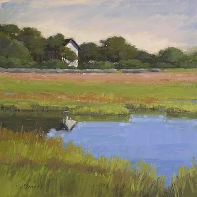 """Marsh's Edge (enlarged)"" original fine art by Laurel Daniel"