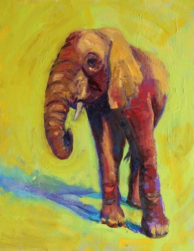 """Elephant Contemporary Artwork by Arizona Artist Amy Whitehouse"" original fine art by Amy Whitehouse"