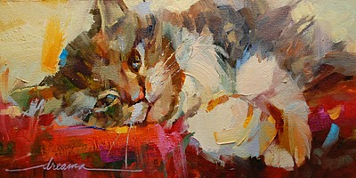"""""""Mr. Big Paws"""" original fine art by Dreama Tolle Perry"""