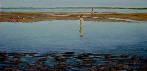 """Michael Mesmerized"" original fine art by Maria Levandowski"