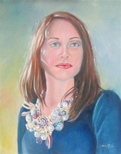 """""""Julie"""" original fine art by Linda McCoy"""