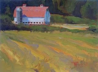 """Eatonville Farm  oil landscape painting"" original fine art by Robin Weiss"