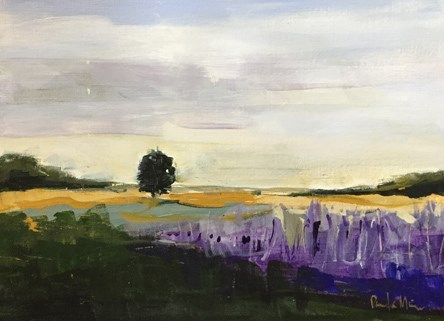 """Lavender Field"" original fine art by Pamela Munger"