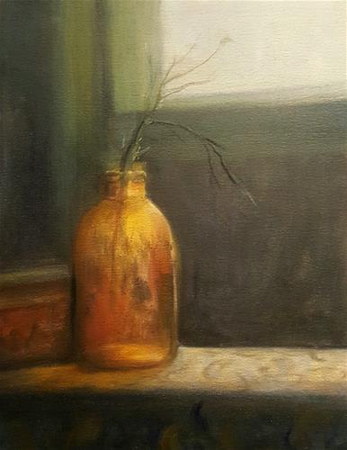 """AMBER BOTTLE"" original fine art by Ronel Alberts"