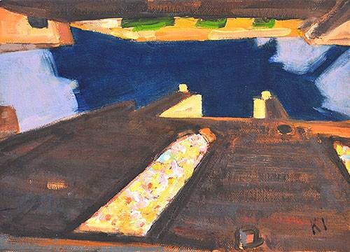 """Night at Santa Maria del Mar"" original fine art by Kevin Inman"