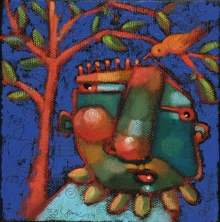 """Nigel Was A Plucky Bird"" original fine art by Brenda York"