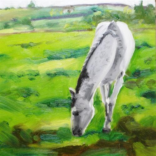 """""""A Horse of Course"""" original fine art by Linda Lowery"""