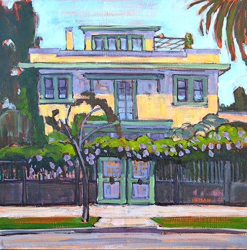"""""""The Yellow House"""" original fine art by Kevin Inman"""
