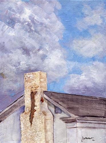 """Ebay Auctions and Jefferson Center in Roanoke, Va."" original fine art by Sue Furrow"