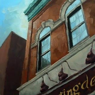 """""""Downtown Building"""" original fine art by Michael Naples"""