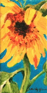 """Tall, Yellow, Happy"" original fine art by JoAnne Perez Robinson"