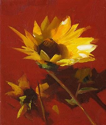 """""""Facing the Sun --- Sold"""" original fine art by Qiang Huang"""