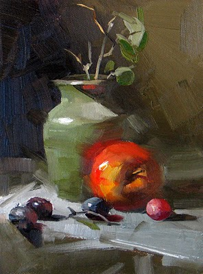 """""""Red in Front --- Sold"""" original fine art by Qiang Huang"""
