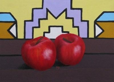 """Ndebele and Apple III"" original fine art by Pera Schillings"