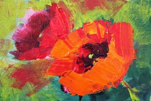 """""""Poppies, Contemporary Landscape and Floral Paintings by Arizona Artist Amy Whitehouse"""" original fine art by Amy Whitehouse"""