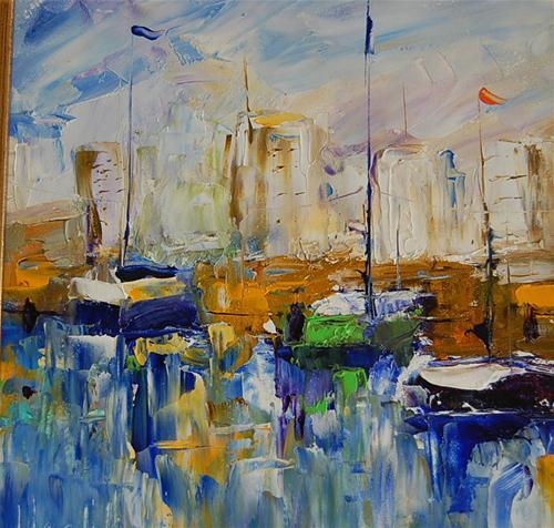 """Shade of Blue"" original fine art by Deborah Harold"